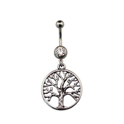 Tree of Life Dangle Belly Bar